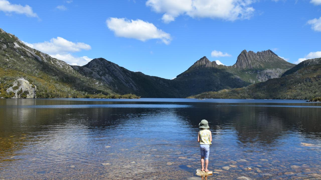 Cradle Mountain's fresh air and scenery made it a highlight of Robin Esrock's six-month journey. Picture: Esrocking the World Media