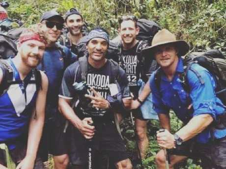 Nick Cummins photographed while on the Kokoda Track as the furore over the Bachelor finale continues. Picture: Instagram/@zahrasquest