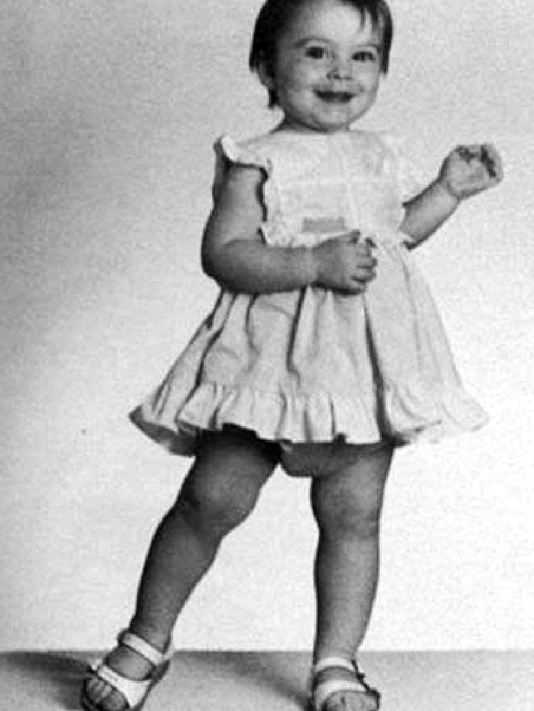 Lindsay Lohan, aged three.