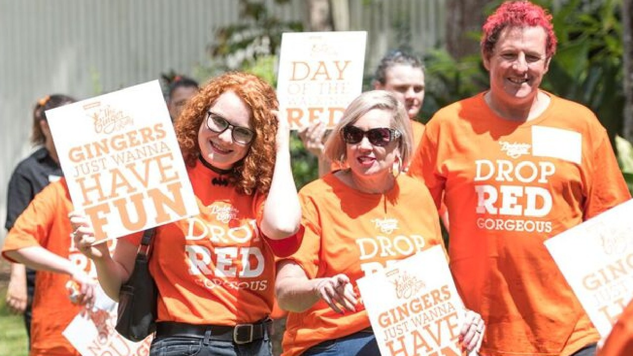 Gingers have gathered at a rally in Queensland. Picture: Supplied