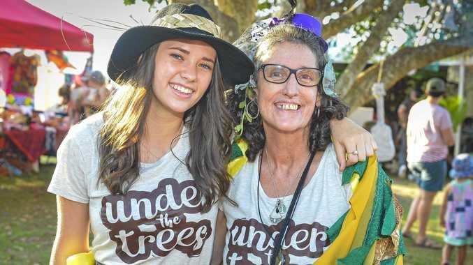 Rachael Shardlow and Ruth Macklin at Boyne Island's Under The Trees music festival, 6 October 2018.