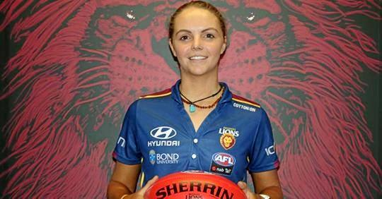 Brianna McFarlane has signed a contract to join the Brisbane Lions AFLW side as a rookie in 2019.