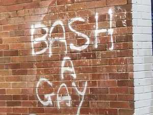 Homophobic graffiti sparks manhunt