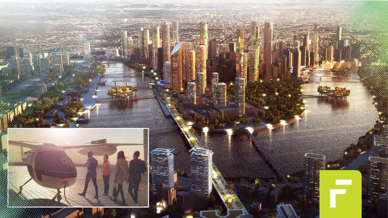 What will Brisbane look like in 2043? Picture: Courier Mail