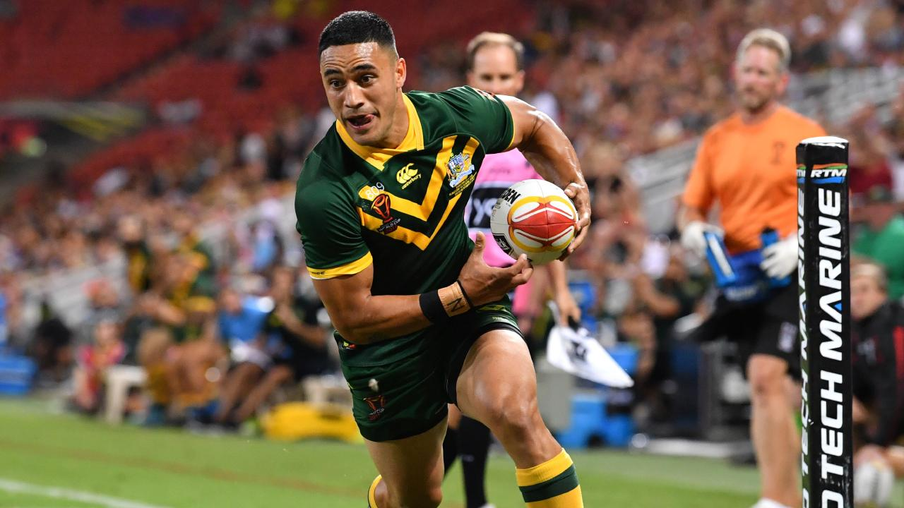 Valentine Holmes will run out for Australia this month.
