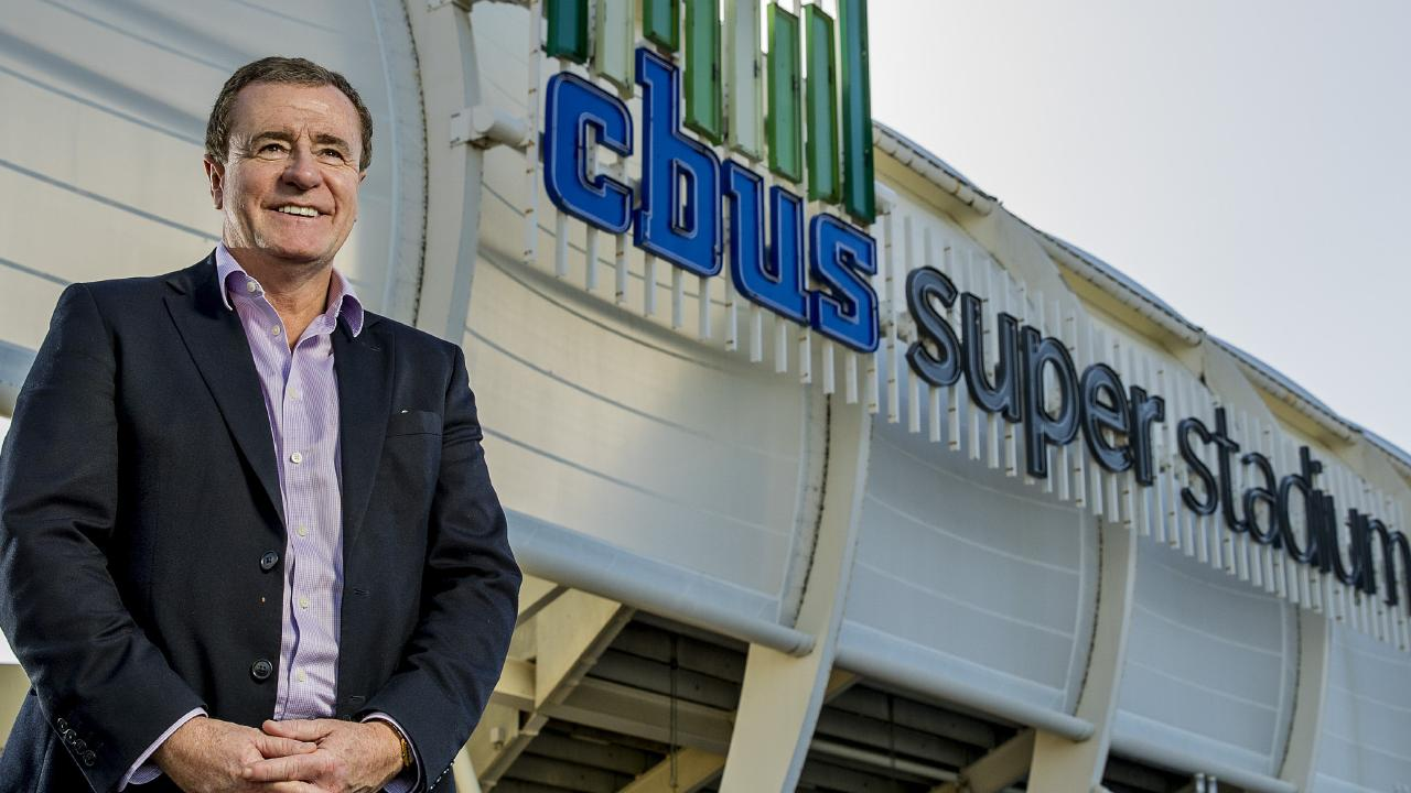 Titans CEO Graham Annesley out the front of CBUS Super Stadium in Robina. Picture: Jerad Williams