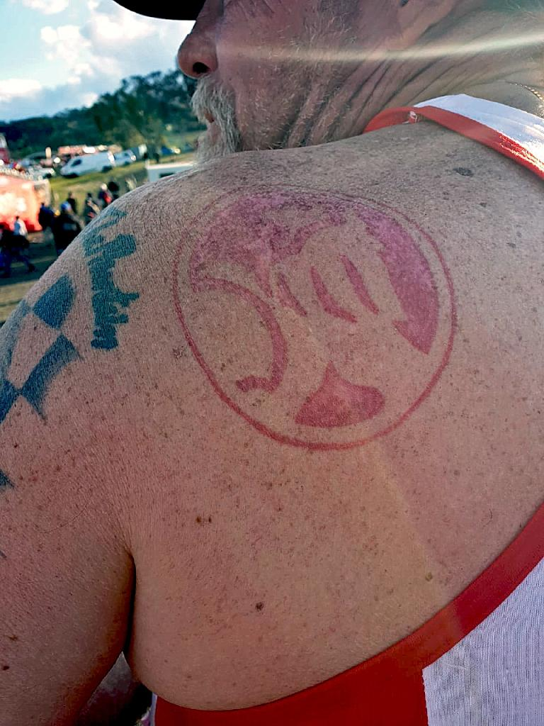 Holden tattoos were popular across the mountain. Picture: Matthew Dunn