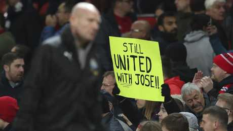 Jose still has some supporters at Old Trafford.