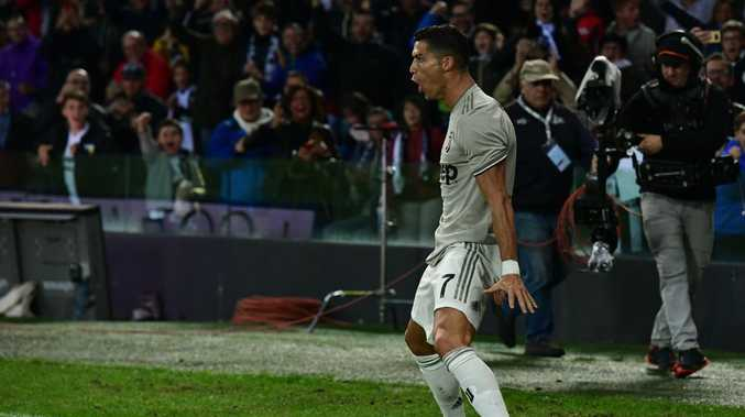 Cristiano Ronaldo celebrated in his usual style.
