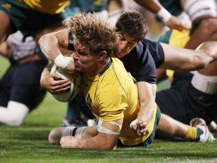 Michael Hooper led the Wallabies to a record comeback win.