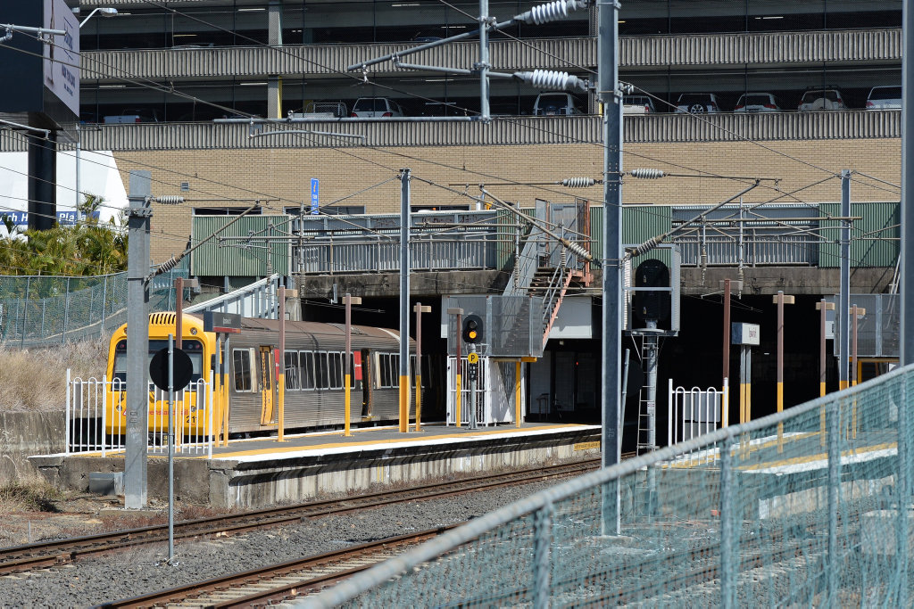 Police are at the scene of Sunday's fatal shooting at Ipswich train station.