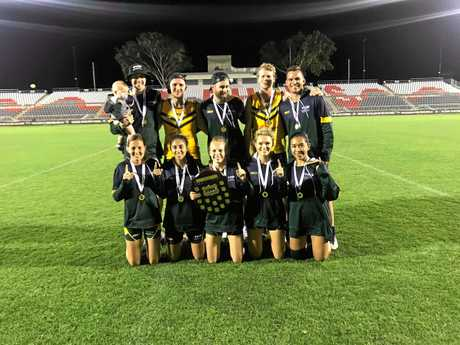The Australian mixed team after their World Cup victory.