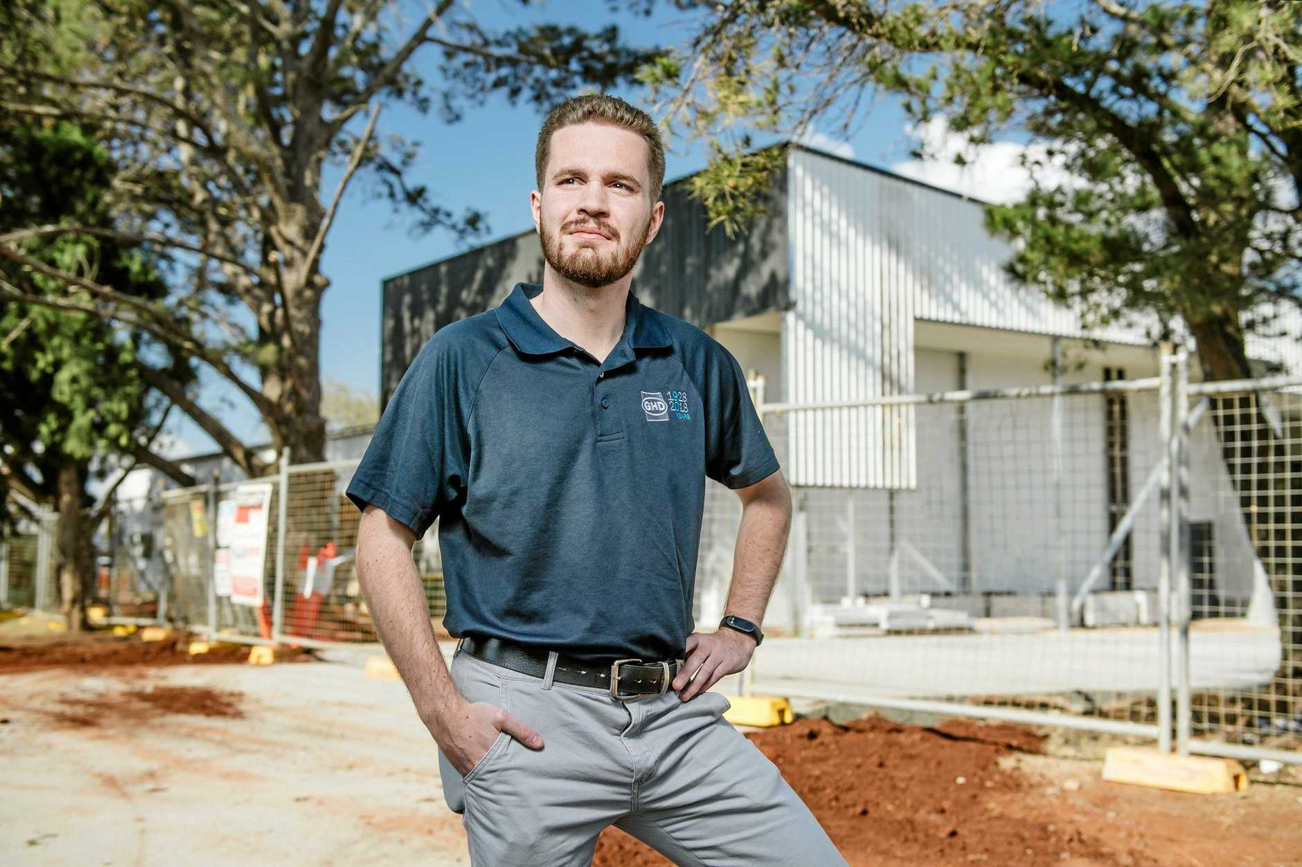 USQ student Aidan Train will feature in a booklet documenting the difference universities make to regional communities.