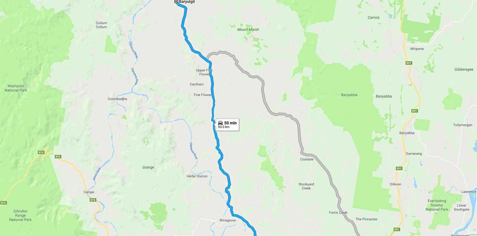 Baryulgil to Copmanhurst on the Clarence Way