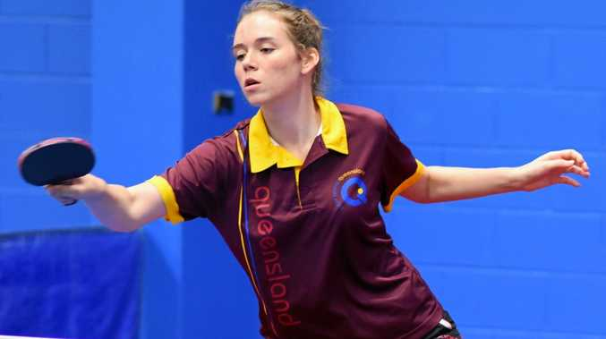 TOP DOG: Mackay table tennis player, Rebekah Stanley was named first in Australia's under 18 rankings after her performance in the the National competition in Townsville, 06/10/2018.