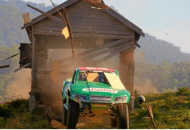 YEE-HA: Screenshots from Supercheap Auto commercial filmed in Kyogle.
