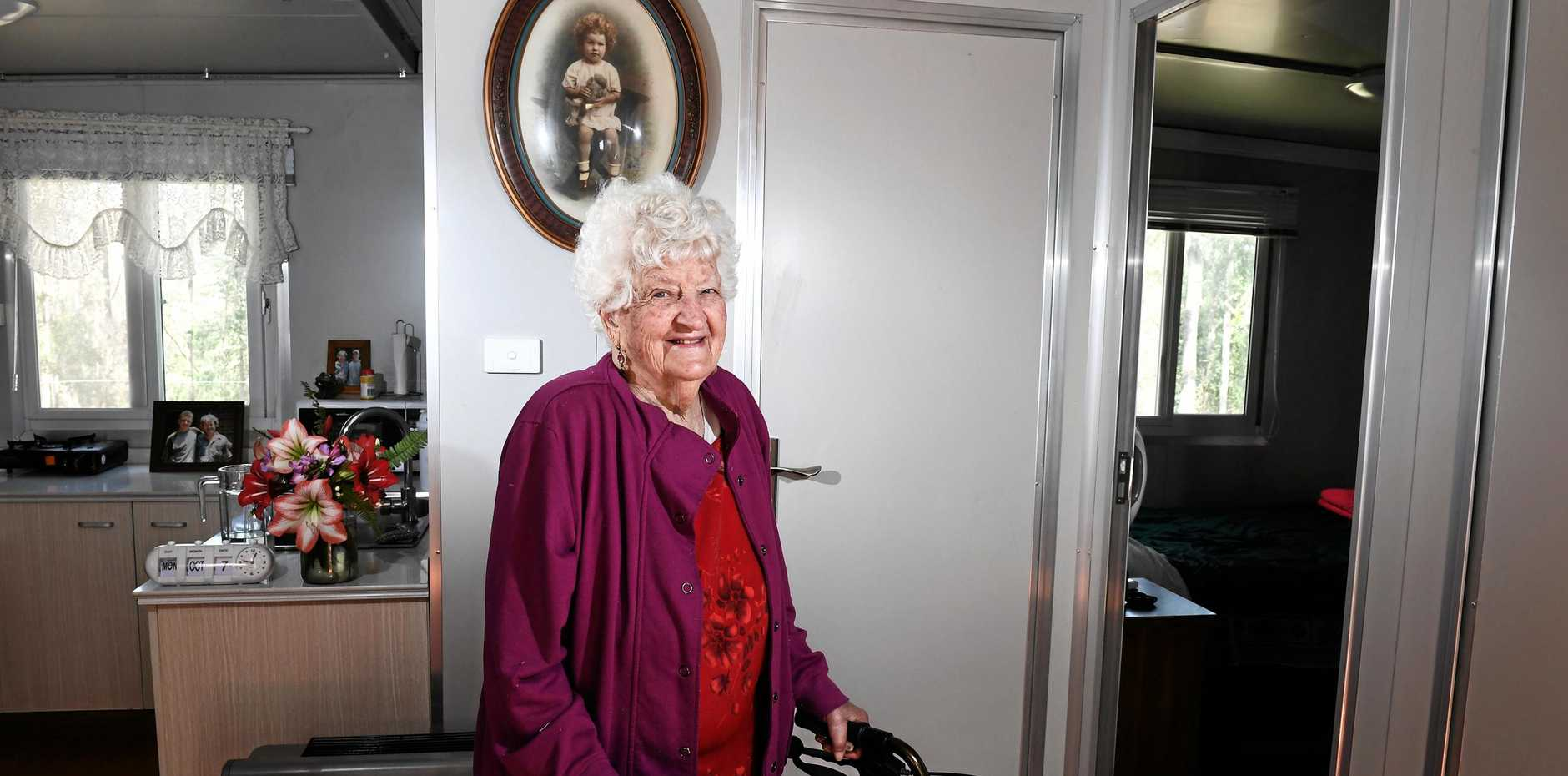 RIGHT AT HOME: Ivy Naumann's now lives with her son at his Cawongla residence and is enjoying her independence.