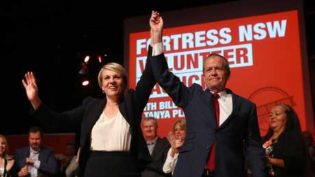 Deputy opposition leader Tanya Plibersek and Opposition Leader Bill Shorten in Sydney launching Labor's Fair Go Action Plan at Revesby Workers Club. Picture: Hollie Adams/The Australian