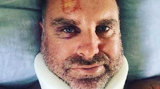 Matthew Hayden on the road to recovery after his surfing accident.