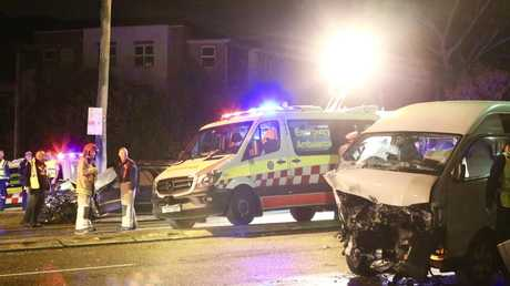 The head-on crash took place at 11.30pm last night.