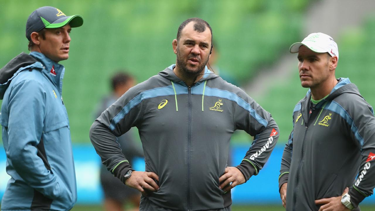 Michael Cheika (centre) is expected to make changes for the end-of-season tout to Europe. (Picture: Cameron Spencer/Getty Images)