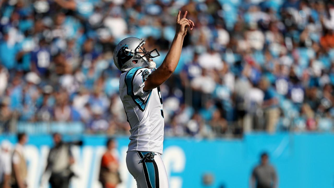 Graham Gano was the man of the moment for the Carolina Panthers. Picture: Getty Images