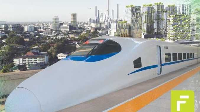 A fast train could link Toowoomba to Brisbane in 45 minutes.