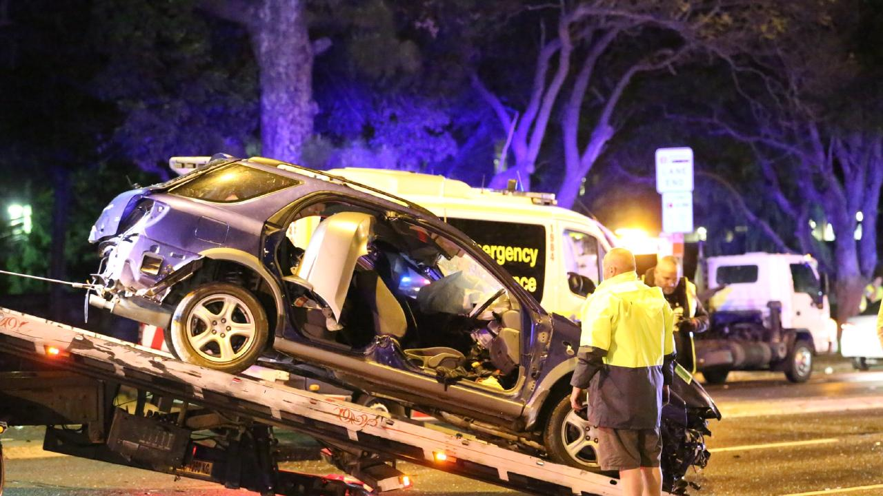 The collision took place at Victoria Rd and Salter St in Gladesville.