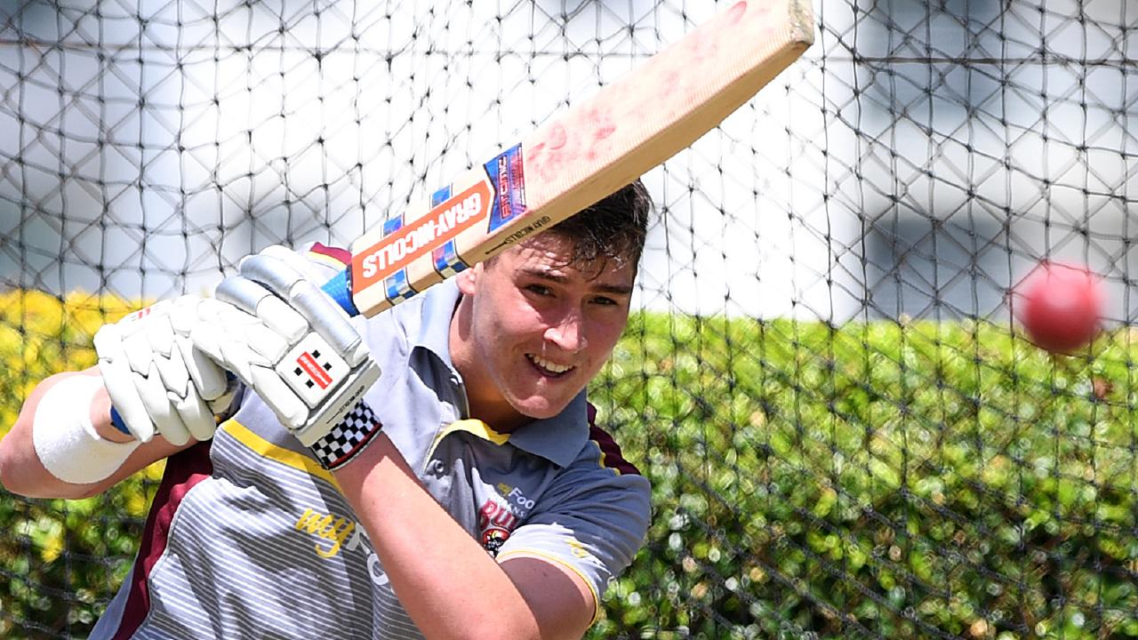 Matt Renshaw has been putting in time in the nets. (AAP Image/Dave Hunt) NO ARCHIVING