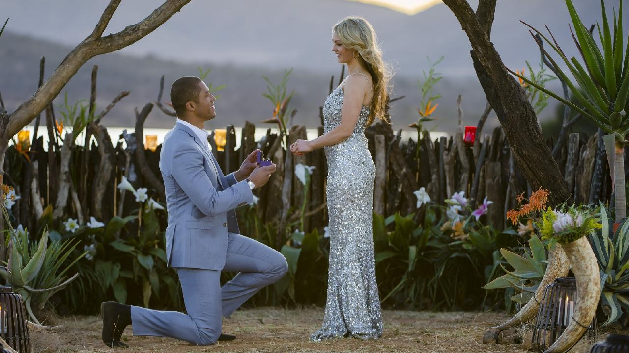 Blake Garvey proposed to Sam Frost on The Bachelor.