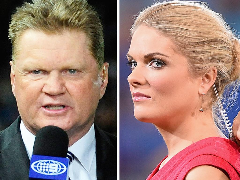 Matty Johns said without Fatty Vautin (left) the Footy Show hosted by Erin Molan (right) should have been renamed.