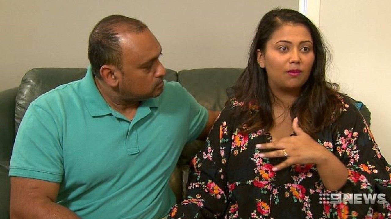 Shadrach Sumaru and Kathryn Ram are mourning the loss of their son. (9NEWS)