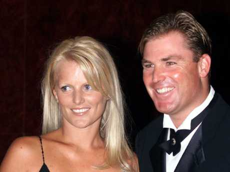 Simone and Shane Warne attend the Border Medal night in 2001.