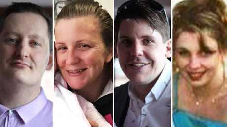 Roozi Araghi, Kate Goodchild, Luke Dorsett and Cindy Low died on the ride in 2016. Picture: Supplied