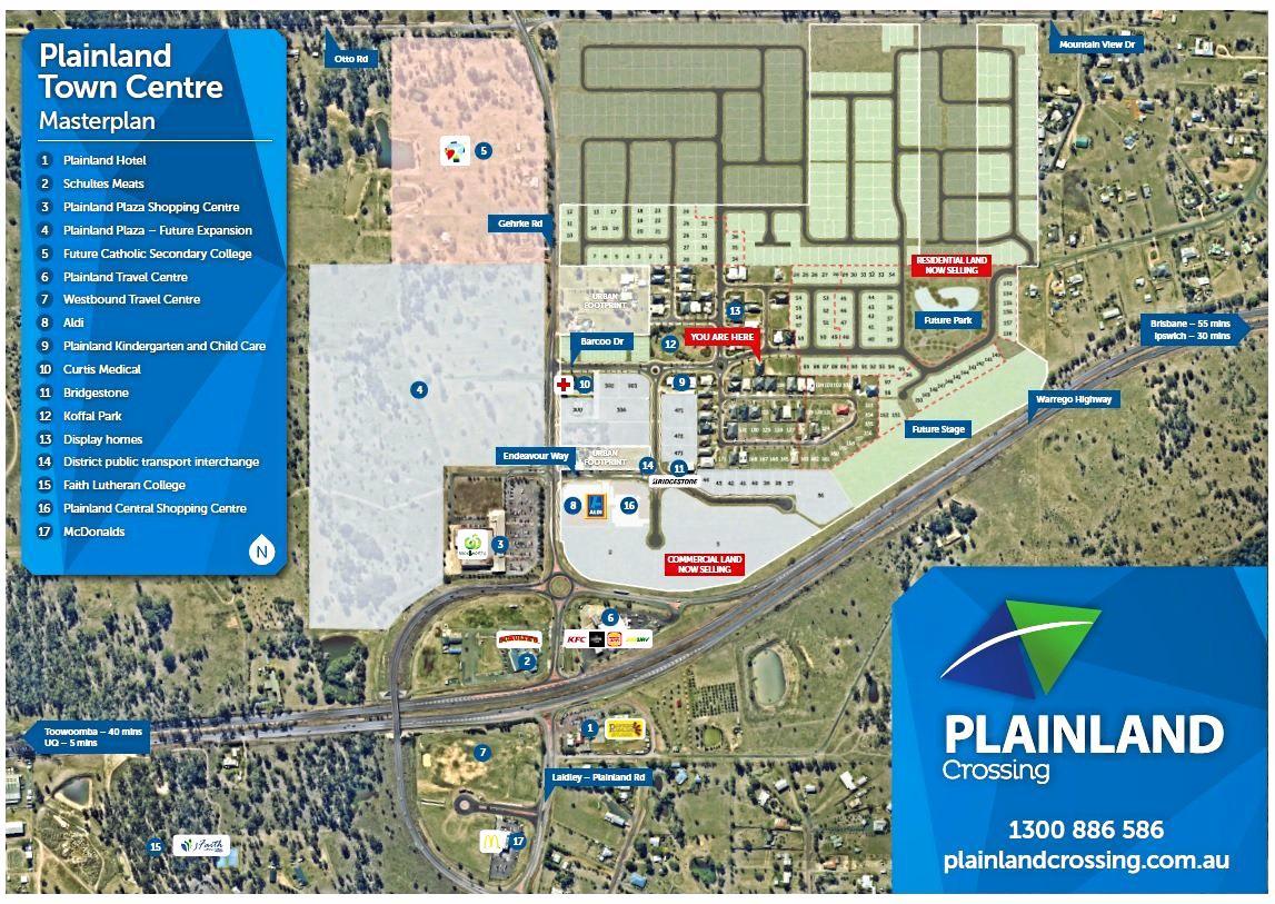 Plainland crossing map