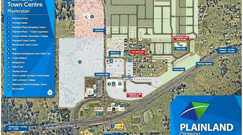 FUTURE DEVELOPMENT: The latest Plainland Crossing Masterplan.