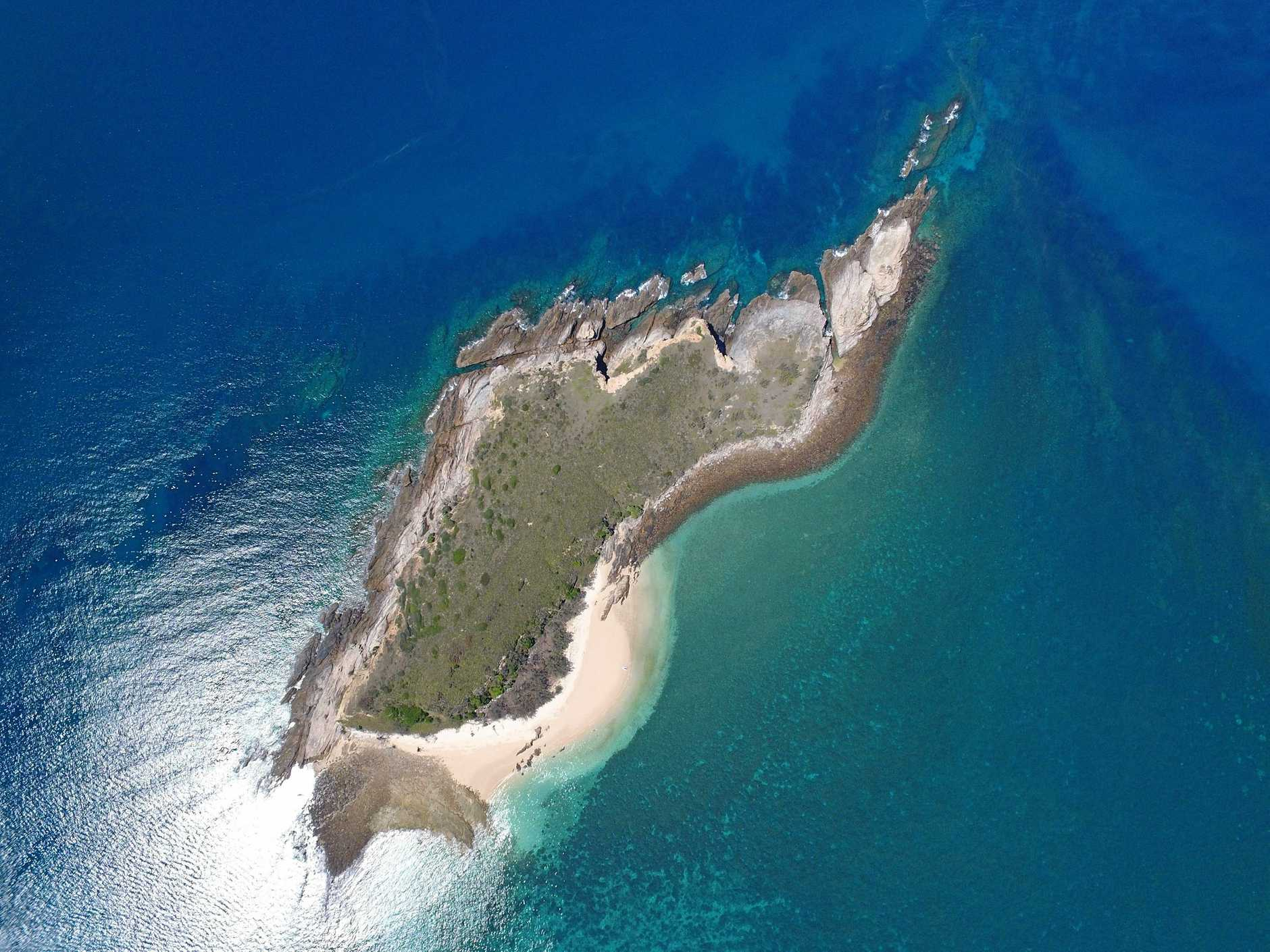 Drone footage of the Keppel Islands used in the book.