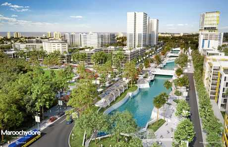 INCOMING: An early artist's impression of the new Maroochydore CBD.