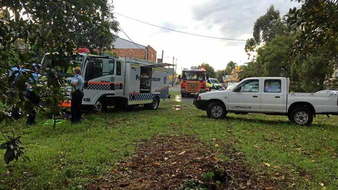 Emergency services were called to a car rollover at North Lismore on Monday afternoon.