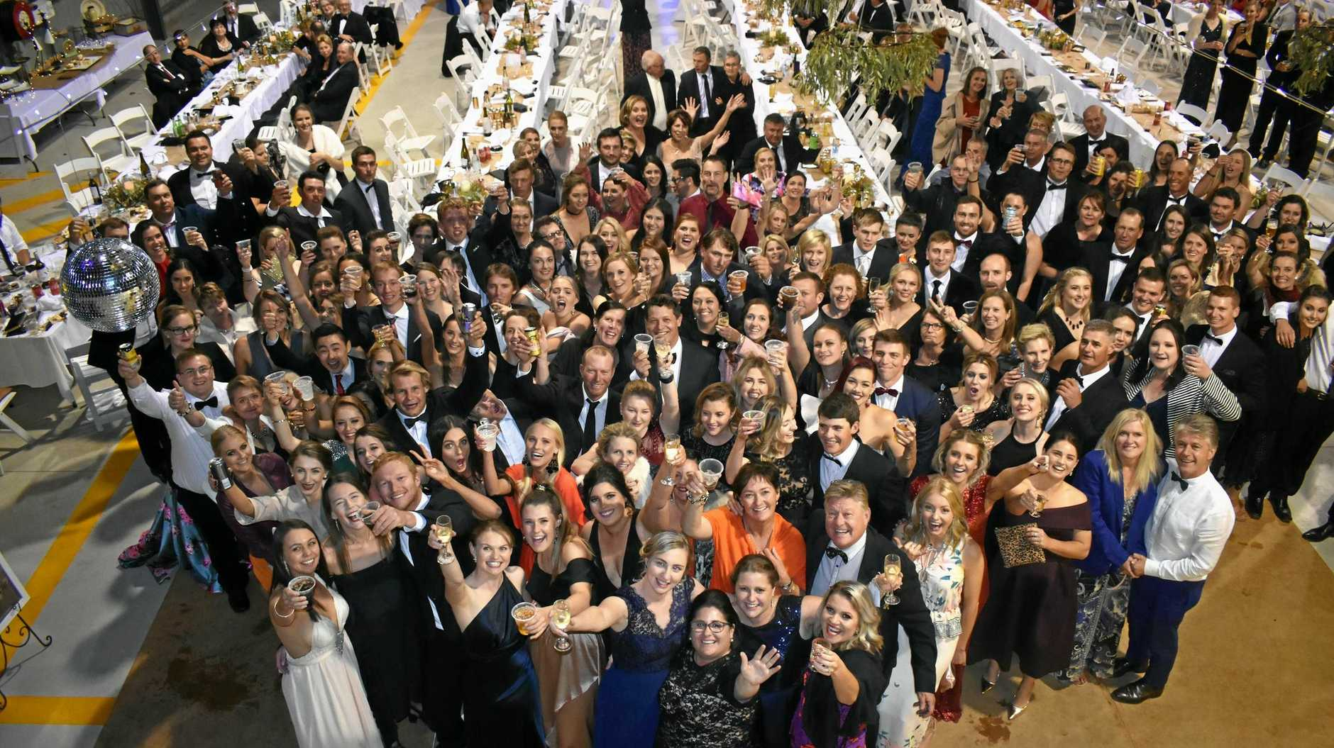 HAVING A BALL: Around 300 people packed in the RFDS Charleville base hangar on Saturday night for the Western Winter ball.