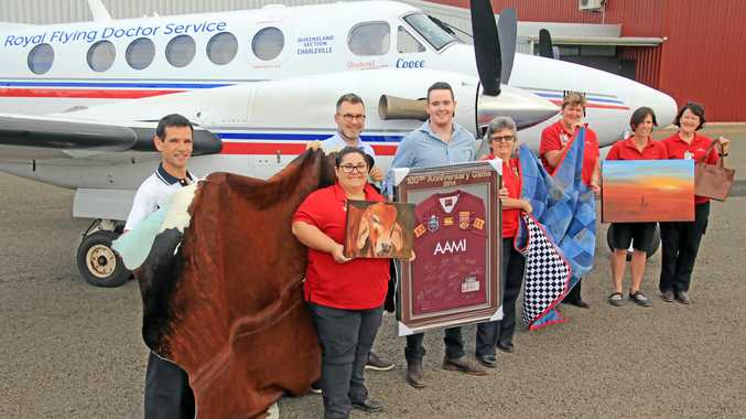 Dr Charles Ellis, Courtney Bylett (flight nurse), Dr Scott Bentley, Luke Radford (relationship manager Suncorp Roma/Charleville), Di Dowrick (flight nurse), Denise Windsor (flight nurse), Jo Mahony (flight nurse/base manager), Cathy Wilson (flight nurse).