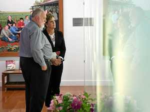 Emotions run high during memorial visit