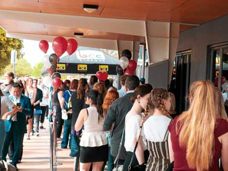 EAGER: More than 1000 applicants turned up to Saturday's Event Cinemas recruitment drive for the new Kawana Shoppingworld complex.