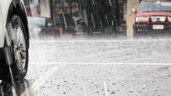 LET IT POUR: Around 6mm of rain fell over Roma this afternoon with more forecast.