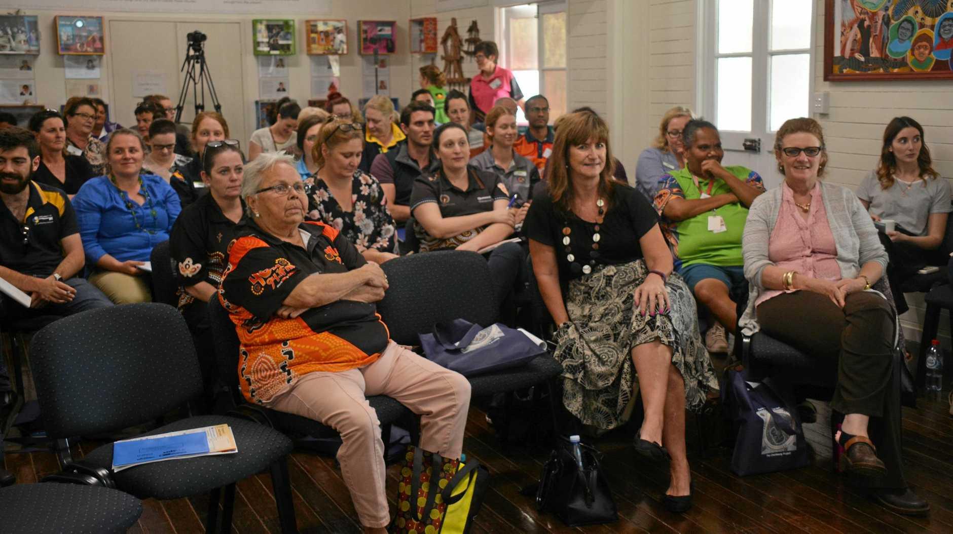 EQUIPPING: South Burnett professionals attend the Fetal Alcohol Spectrum Disorder workshop in Cherbourg led by University of Sydney pediatrics Professor Elizabeth Elliott on Tuesday October 9.