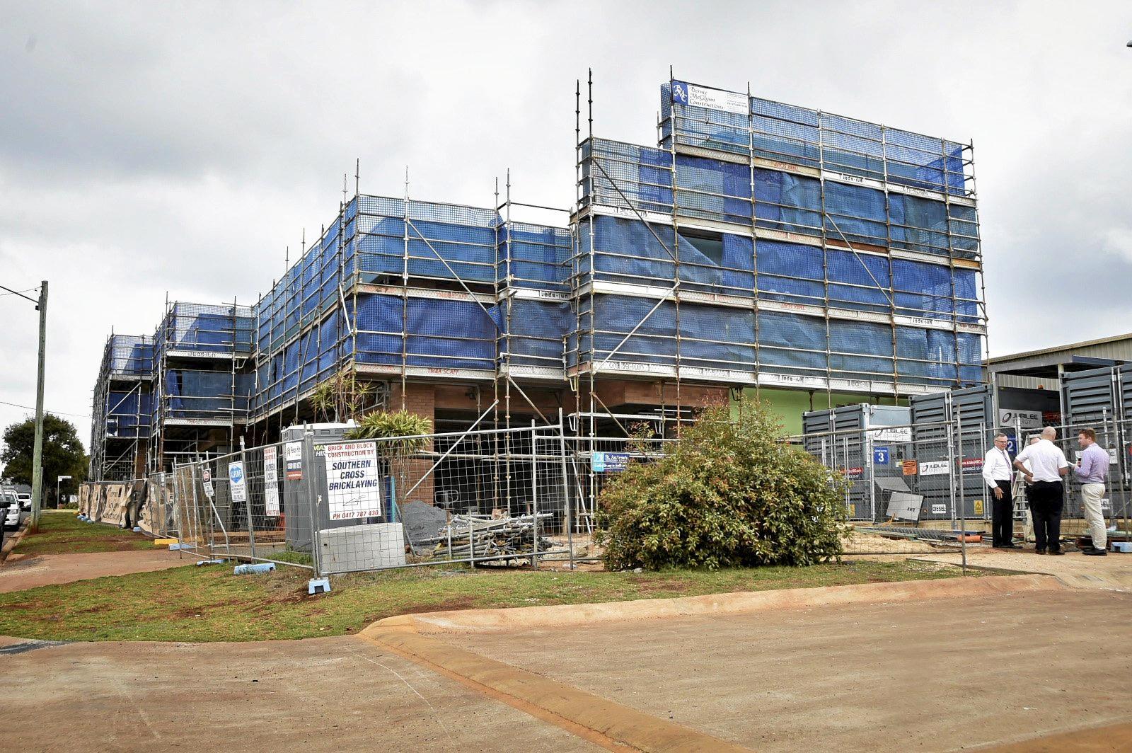 St Andrew's Hospital progress on building of new mental health ward. October 2018