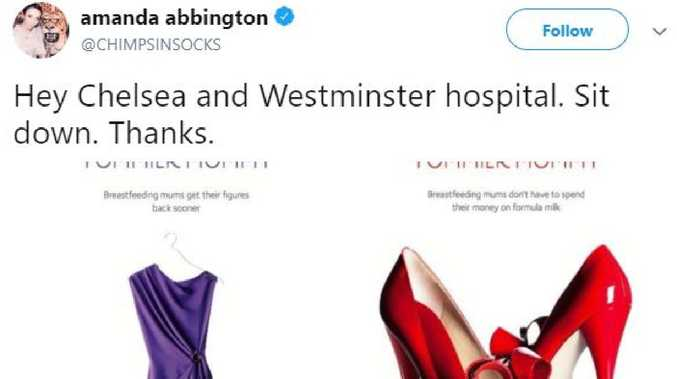 The hospital has been called out for its latest campaign.