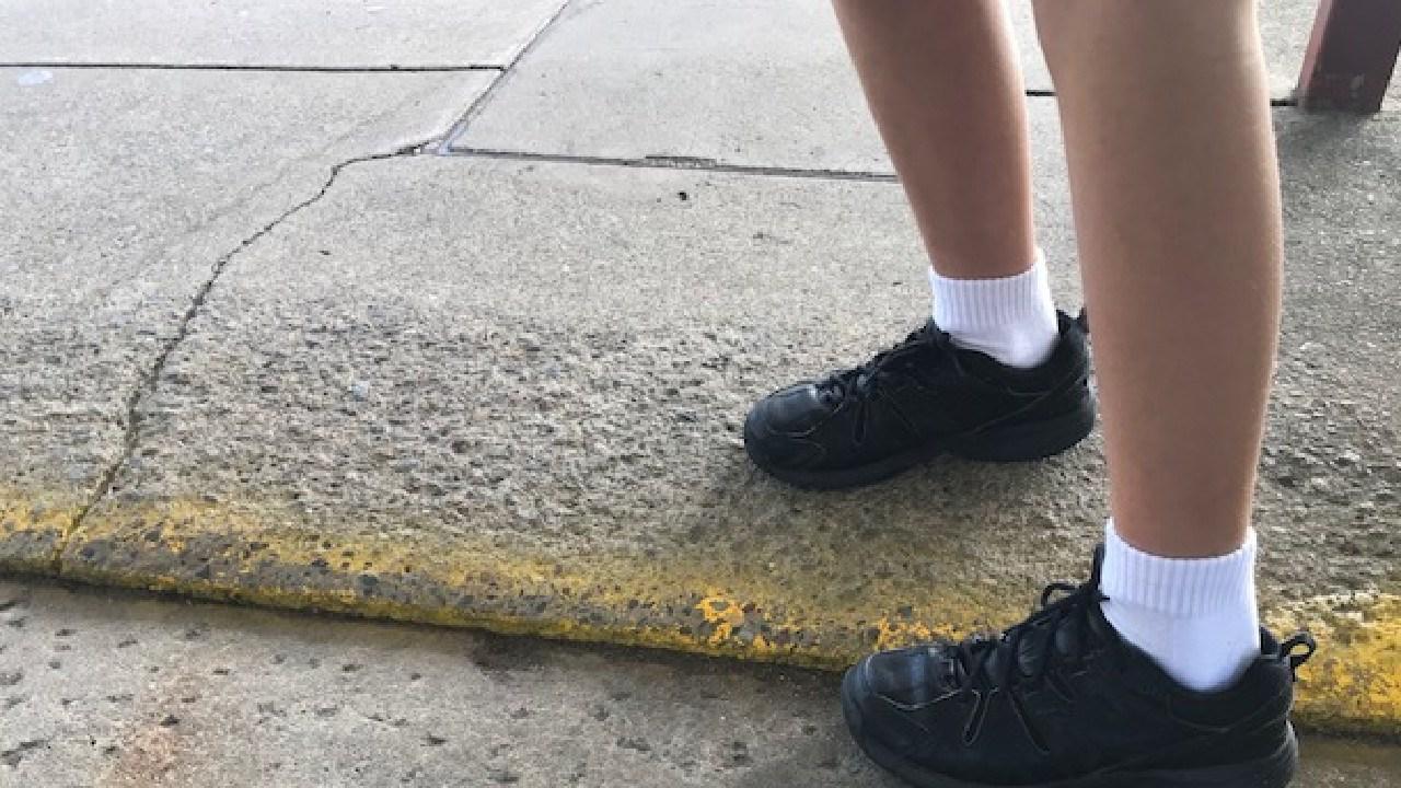 Concrete paths need repairing at Helensvale State School.