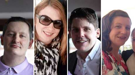 The four victims of the Dreamworld tragedy — Roozi Araghi, Cindy Low, Luke Dorsett and Kate Goodchild. Pictures: Supplied