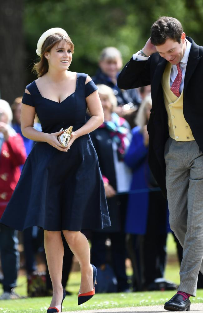The couple seen at the wedding of Pippa Middleton and James Matthews in 2017. Picture: AFP